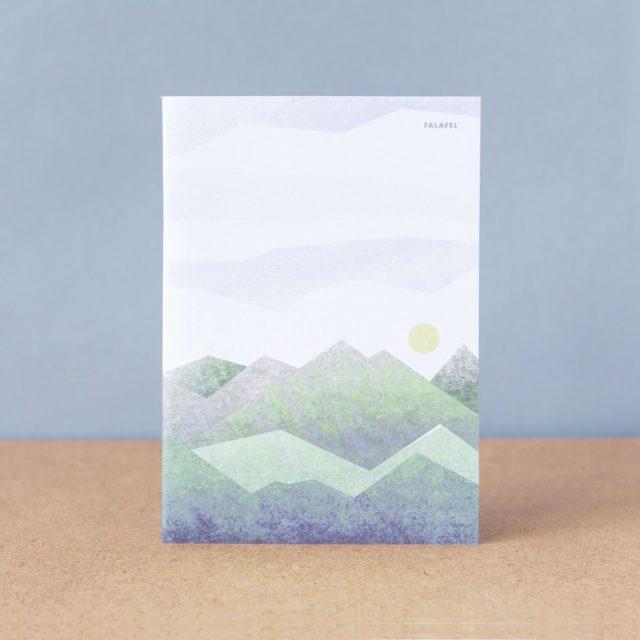 Тетрадь в клетку Falafel Green Mountains A5