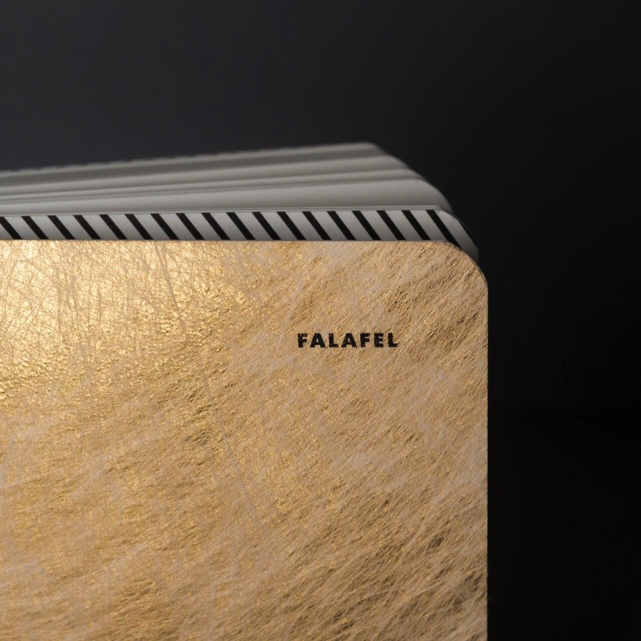 Блокнот в линейку Falafel Twist Gold A5