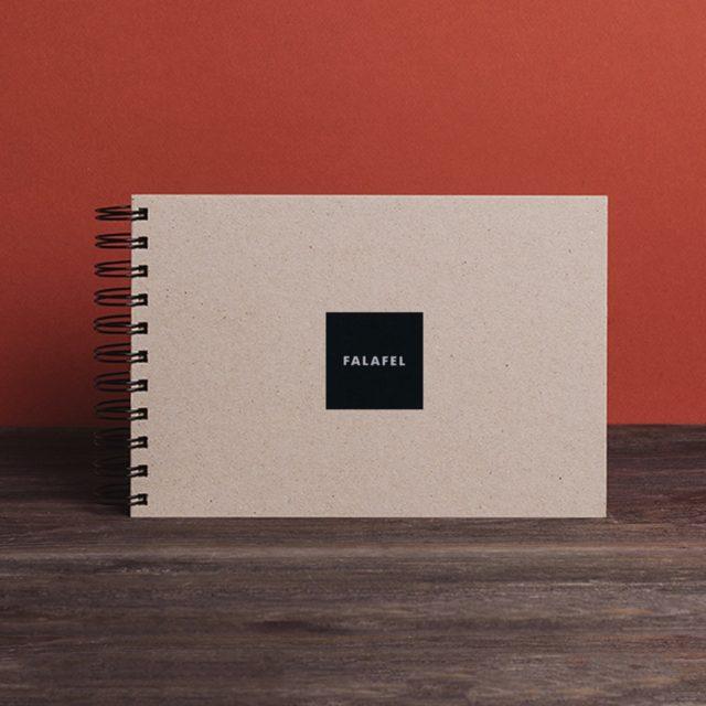 Скетчбук Falafel с чёрной бумагой A5