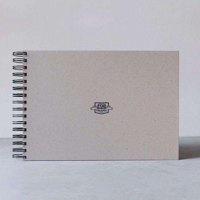 Скетчбук Falafel для рисования с кремовой бумагой A4