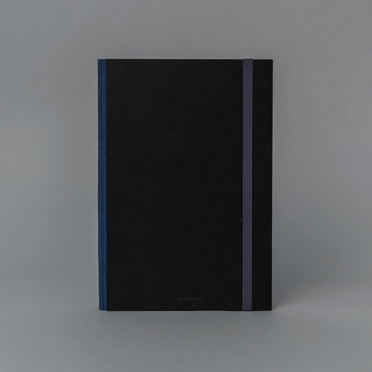 Скетчбук для графики в твёрдой обложке Falafel Black A5