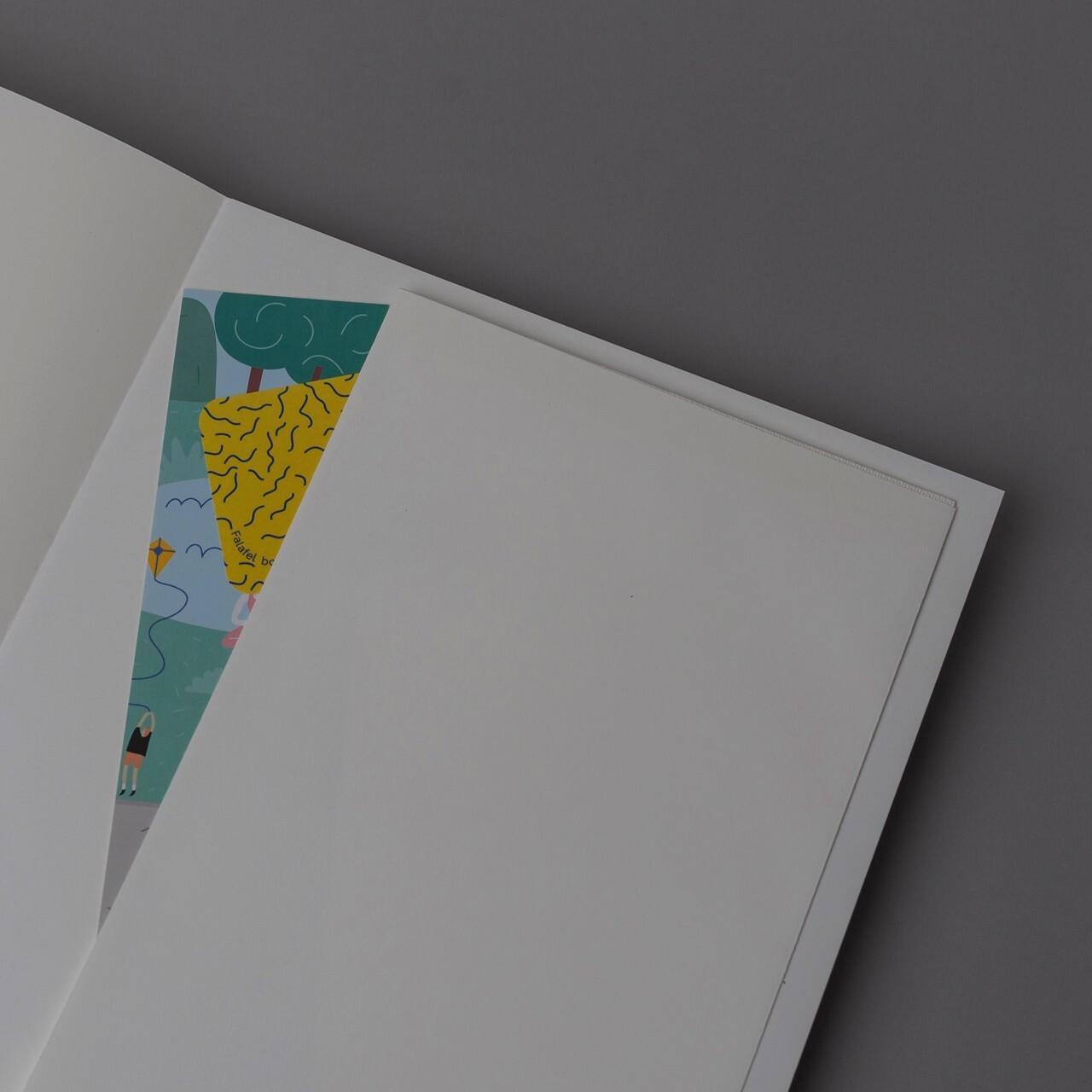 Скетчбук для графики в твёрдой обложке Falafel Pearl A4