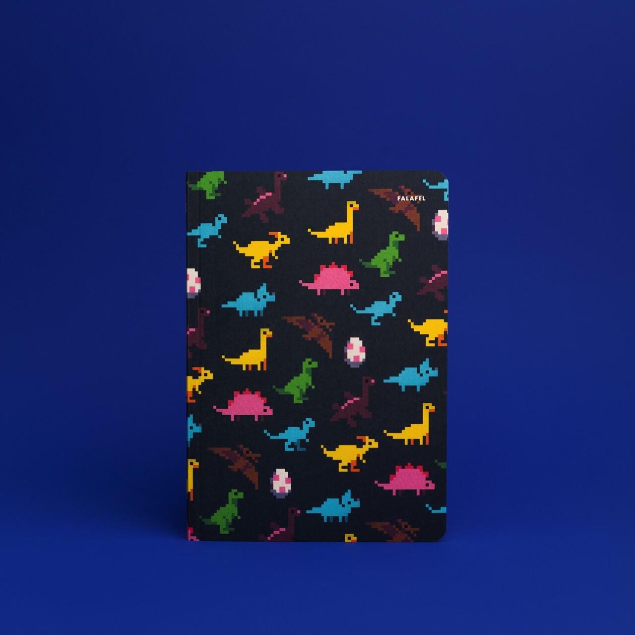 Блокнот с точечной разметкой Falafel Dinosaurs A5