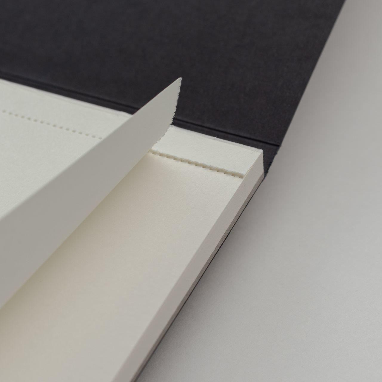 A4 Чёрный скетчбук с перфорацией Falafel books Sketchbook Black A4