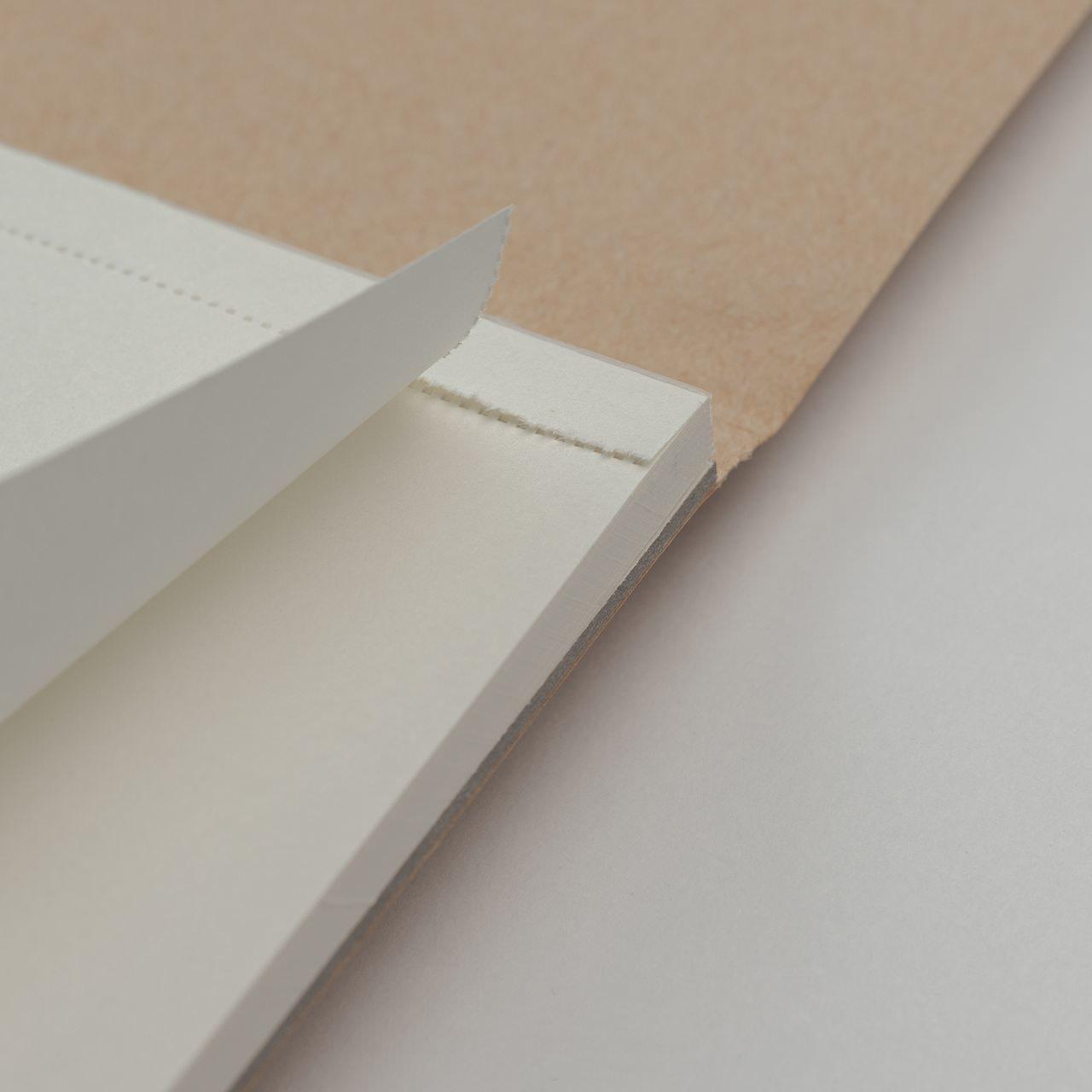 A5 Крафтовый скетчбук с перфорацией Falafel books Sketchbook Straw