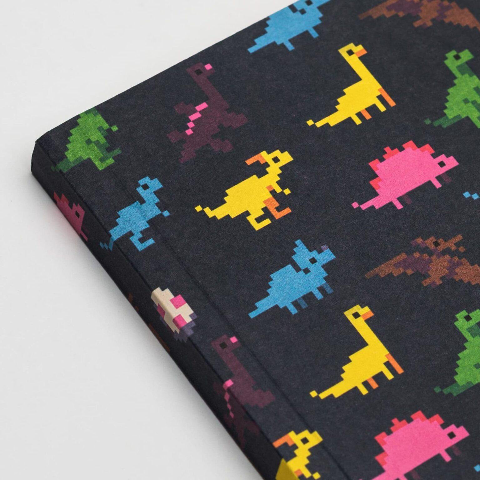 Блокнот в точку Falafel Dinosaurs A6