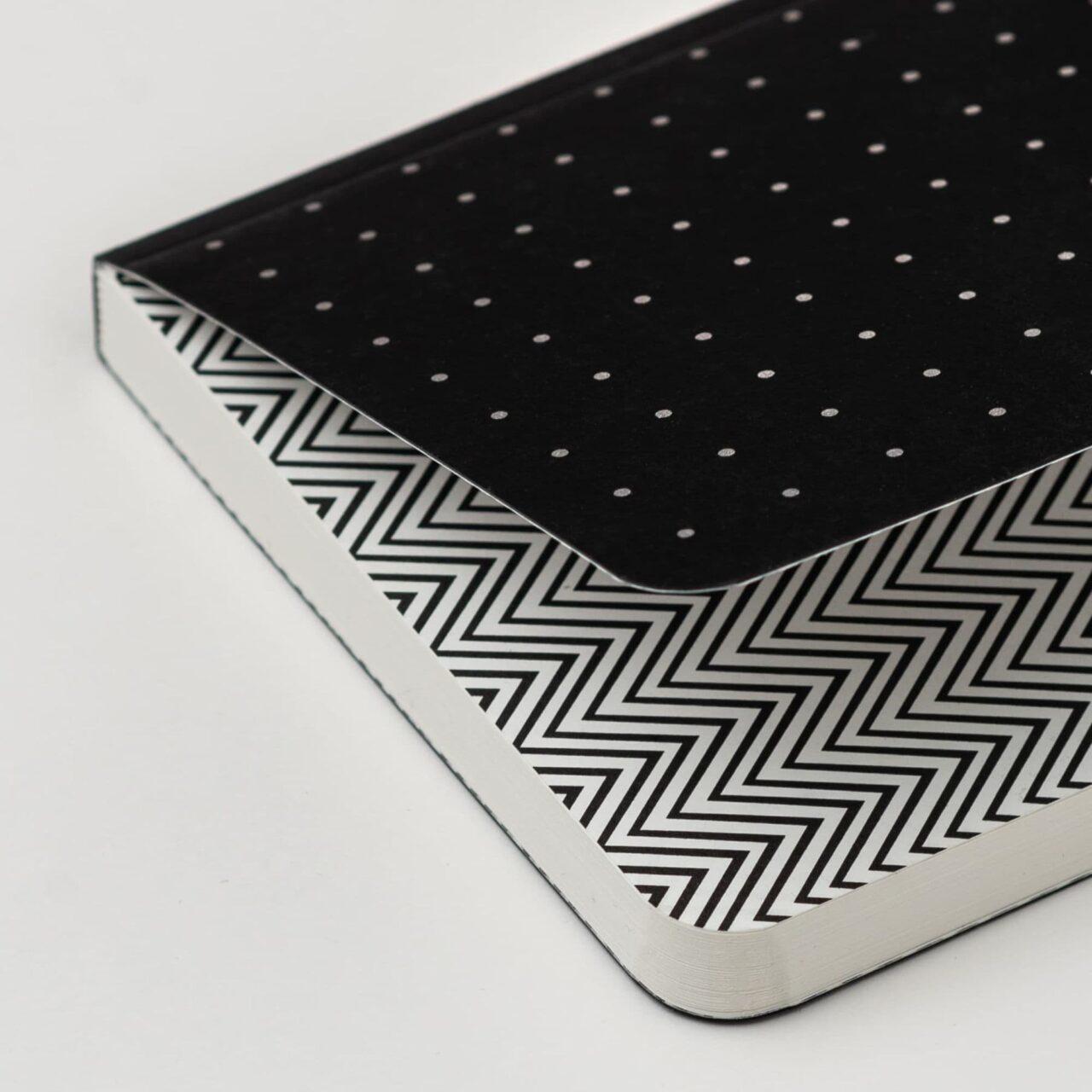 Блокнот в точку Falafel Silver Dots A6