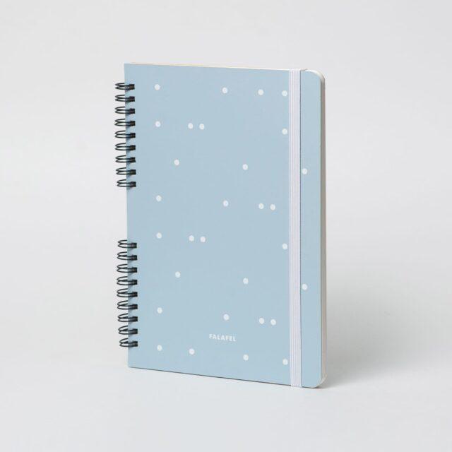 Скетчбук для смешанных техник A5, 180 г/м², 25 листов, голубой